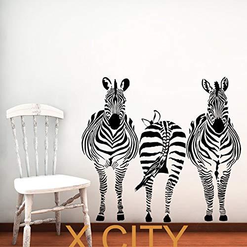 3 Zebra Tiere Dschungel Safari African Vinyl Wandtattoo Kunst Kinder Dekor Aufkleber Home Schlafzimmer Schablone Wandbild 81 * 88 cm