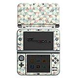 Nintendo New 3DS XL Case Skin Sticker aus Vinyl-Folie Aufkleber Dreiecke Vintage Muster Pastell