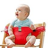 La lavatrice portatile da viaggio seggiolone booster sedile Baby con cinghie imbracatura di sicurezza per bambini, baby nutrire il cinturino (blu) # Bzy