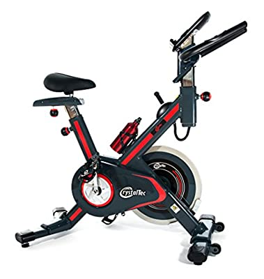 CrystalTec CT101M Magnetic Resistance Belt Driven Indoor Aerobic Training Cycle Exercise Bike Fitness Cardio Workout Machine by CrystalTec