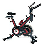 CrystalTec CT101M Magnetic Resistance Belt Driven Indoor Aerobic Training Cycle Exercise Bike Fitness Cardio Workout Machine