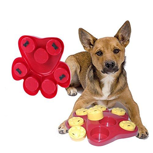 owikar Paw Hide behandelt Spielzeug Pet Dog Futternapf für Slow Food Leckerli-Spender Langeweile Interaktives Spiel, Puzzle Training Finder Toys zu verhindert, dass Blähungen Durchfall Entertaining und (Finden Halloween Hause Zu Kostüme)
