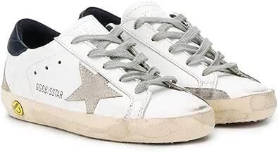 Golden Goose Luxury Fashion Ragazzo GCOKS301A5 Bianco Pelle Sneakers | Stagione Permanente
