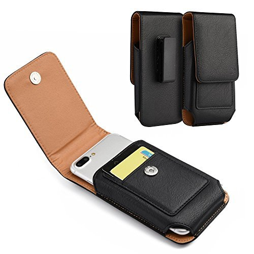 Für Samsung Galaxy S8Plus, Galaxy S7Edge Plus, Galaxy Note Edge, Note 5, Note 4, Note 3, Note 2, Schwarz Horizontal/Vertikal Clip Holster Tasche Robustes Nylon-Schutzhülle, Vertical Black1 -