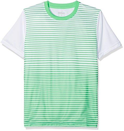 415027c0a Wilson Boy s B Team Striped Crew Short Sleeve Tennis T-Shirt