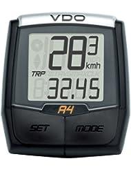 VDO A4 - Ordenador para bicicleta (4 funciones, universal, soporte Twist-Click)