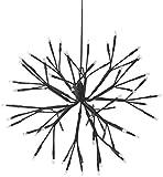 Home&Style Dekokugel zum Aufhängen, 64 LEDs warm weiß, 35 cm Durchmesser, 5 m Zuleitungskabel, 577130