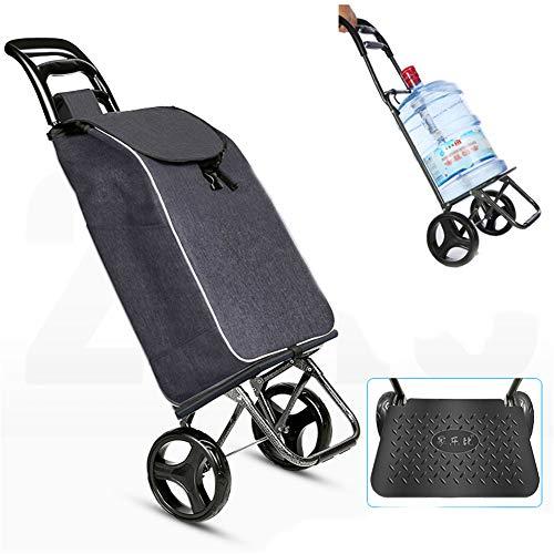 AIMCAE Einkaufstrolley, zusammenklappbar, mit Rädern, ohne Lärmkissen, Wasserabweisende Tasche C
