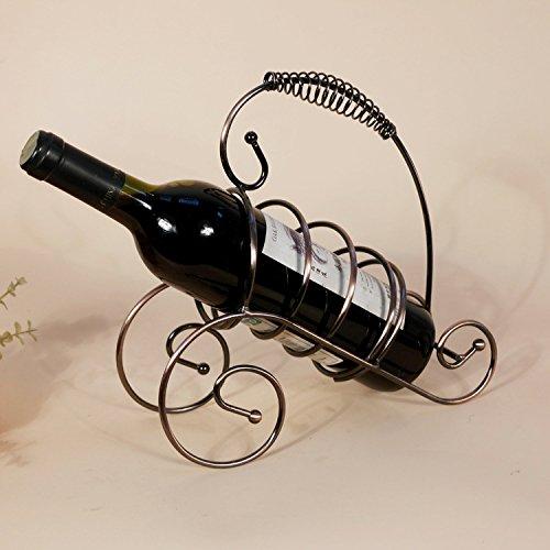 Frisches Dekor (JIUJIA Restaurant Dekoration kleinen frischen kontinentalen eisernen Wein Wein-Rack Racks Home Dekor Geschenke, Bronze, 23 * 9 * 23cm)