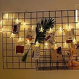 Weihnachtsdeko Lichterkette 20 LED Sterne Beleuchtung Schnur Licht Batteriebetrieben Lichterkette String Light Deko Lichterketten für Wohnzimmer Party Hochzeit- 3 Meter Länge