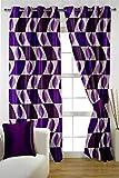HOMEC Trendy Printed Curtain Set of 2 (Size - Door 46 X 84 inch/Color - Purple)