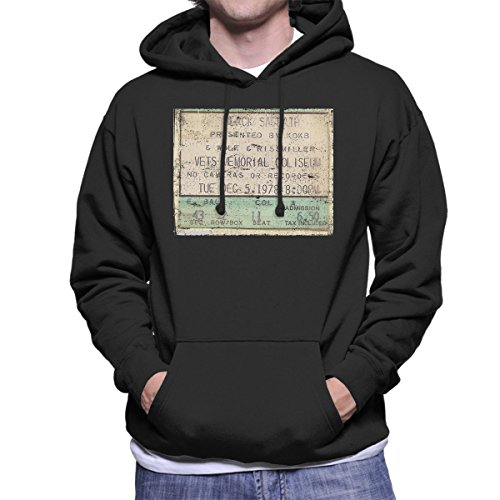 Black Sabbath Vets Memorial Coliseum 1978 Men's Hooded Sweatshirt