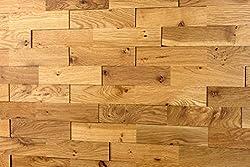 wodewa real wood Oak rustic 200 x 50 3D effect solid natural decoration wall Wood Panels Cladding Planks bricks