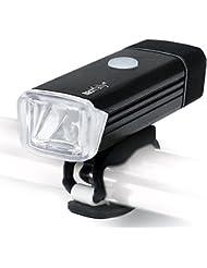 Lámpara recargable estupenda de la bici del USB brillante, GOPAL POWERFUL Hurley-380 Luz recargable de la bicicleta LED de la bicicleta con la luz durable X1 de la cola incluida, compatible con la montaña, el camino, los cabritos ...