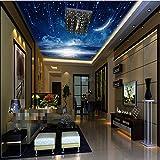 Weltraum Himmel Sterne 3d verschönern Wandbild 3d Decke Wandbild Tapete für Decke Kinderzimmer 3D Wand Decke Foto Wandbild Wandpapier-280X200CM