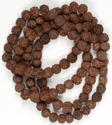 Preghiera in Rudra ksha Beads-Buddha Mala con perline 15mm, Mala rudras/Shiva - Buddha Bead