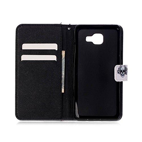"""Ooboom® iPhone 7 4.7"""" Hülle Flip PU Leder Schutzhülle Handy Tasche Case Cover Wallet Standfunktion mit Kartenfächer Trageschlaufe - Eule Lächelndes Gesicht"""