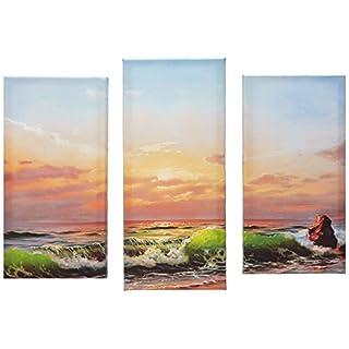 Asir Group LLC 3PATK-3 Horizon Dekorativ Leinwand Malerei, bunt