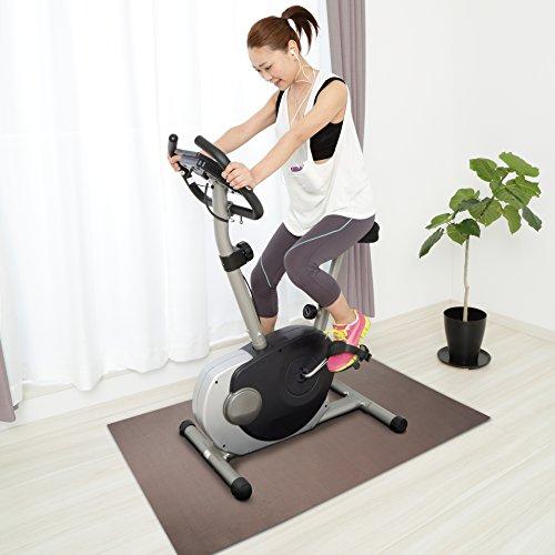 Design Bodenschutzmatte MODENA   Unterlegmatte für Fitnessgeräte   zuverlässiger Bodenschutz   60x120cm
