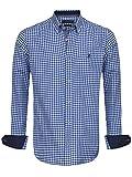 Sir Raymond Tailor - Kariertes Hemd mit Ellbogenschutz für Herren X-Large Königsblau