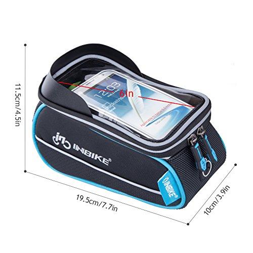 Inbike Fahrradtasche für Fahrrad mit Handyhalterung Schwarz 5.7