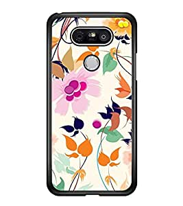 Vizagbeats Flowers and Leaves Back Case Cover for LG G5