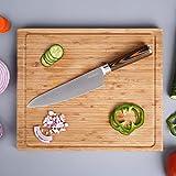 Coltello da cuoco, 20cm coltelli da cucina Kealive professionali in acciaio al carbonio di alta qualità e con impugnatura ergonomica