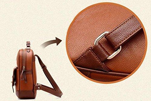 Dame-Schulter-Beutel-Handtaschen-koreanische Versions-College-Art-Dual-Gebrauch Freizeit Retro Art Und Weise PU-Männer Und Frauen-Schule-Beutel B