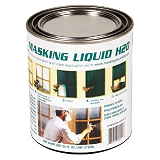 ASSOCIATED PAINT 157026 80-400-4 H20 Masking Liquid, 1 quart, Clear by ASSOCIATED PAINT