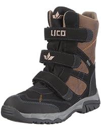 Lico Calgary V 720078 - Botas de nailon para niño, color negro, talla 34