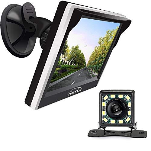Rückfahr-kamerasystem Rückfahrkamera mit Auto Monitor, Nachtsicht Winkel Wasserdichte AutoKamera+5 Zoll 800W*RGB*480H TFT LCD Rückansicht Bildschirm (5 inch)