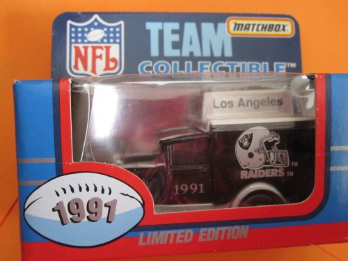Los Angeles Raiders Model a Ford-matchbox White Rose Collectible (1991) Sealed in Original Box by Matchbox (Rose White Collectibles)