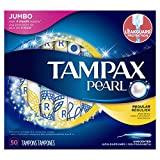 #10: Tampax Pearl Plastic Tampons, Regular Absorbency, Unscented, 50 Count