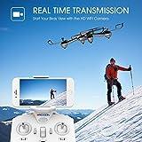 Drone DROCON Cyclone X708W da Addestramento Versione WiFi e FPV, Quadricottero per Principianti e Ragazzi con Videocamera HD, Headless Mode e Ritorno con un Solo Tasto e Prezzo Contenuto.(X708W con FVP integrato)