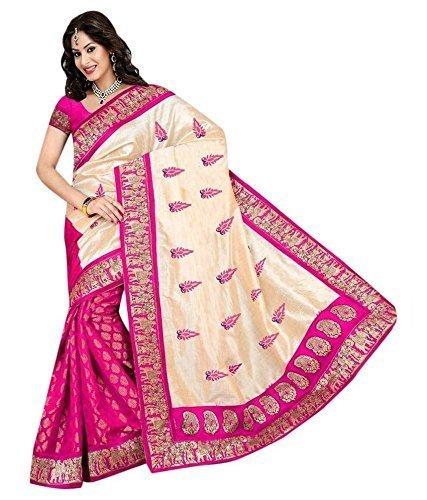 saree (Desney Fashion attractive Bhagalpuri Silk fabric awesome look perfect cut saree)