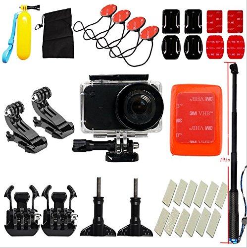 Flycoo Xiaomi Mijia Mini-4K-Actionkamera mit Zubehör, wasserdichtes Gehäuse, Sport-Ausrüstung für Surfen/Ski/Schwimmen/Tauchen, mit Selfie-Stick, Schwimmer, Basisbefestigung, Anti-Beschlagen