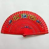 Xiang Ventilateurs pliables Ventilateurs de poche avec main de bambou évidée tenant des ventilateurs for femmes cosplay