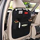 Vetra Black Car Organizer Storage Bag Back Seat Organizer Holder Cover Backseat Pockets For Mahindra KUV 100