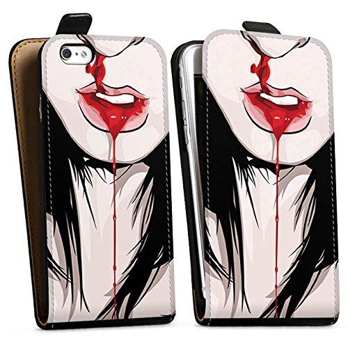 Apple iPhone X Silikon Hülle Case Schutzhülle Nase Nasenbluten Mädchen Downflip Tasche schwarz