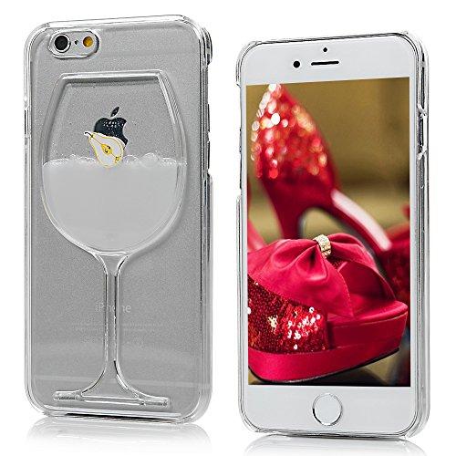 Mavis's Diary Coque iPhone 6/6S Coque PC Rigide Dure Créatif Jus de Poire Coque PC Bords Transparents Phone Case Cover Coque de Protection avec Chiffron Nettoyeuse Jus 5
