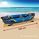 INSHORE KAJAK 2-Personen 325 cm aufblasbar Schlauchboot mit Doppelpaddel Freizeit Badeboot komplett Set ~yx 235