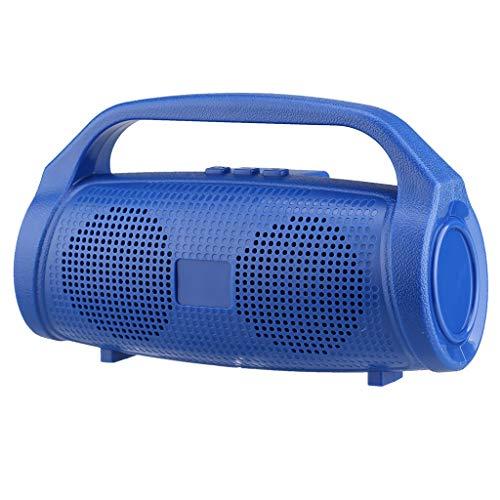 ToDIDAF Q23 Tragbarer Drahtloser Bluetooth-Lautsprecher, Mini-Musik-Player, FM-Radio + USB-Funktion, Schnelles Laden und Langer Standby-Modus - Schwarz/Rot/Blau/Grün (Blau)