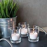 Bundle: Teelichthalter Promo (Sandra Rich) & 48 Teelichter mit 8 Stunden Brenndauer (bolsius): Set 12 Teelichthalter & 48 Teelichter - 6