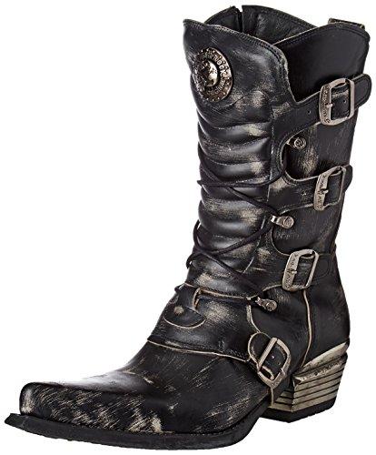 New Rock Herren M-7993-S3 Cowboystiefel, Schwarz (Black 001), 44 EU