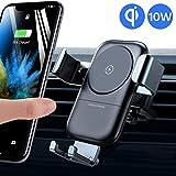 andobil Handyhalter fürs Auto, automatische-klemmung Qi 7,5W/10W Fast Charging Ladestation Auto Halterung Ultra stabil Lüftung KFZ Halterug für Samsung S10/S10+/S9 /iPhoneXS Max/XS/XR/X Usw