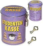 alles-meine.de GmbH Spardose -  Studenten Kasse  - mit 2 Schlüssel und Schloss - Stabile Sparbüchse aus Metall - Geld Sparschwein / Blechdose - Studentenkasse - Studieren & STU..