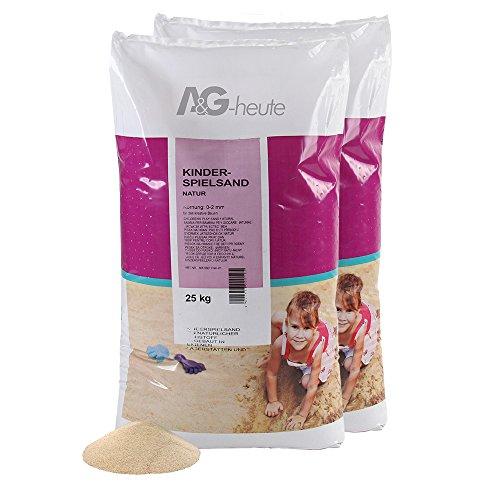 50kg Spielsand Quarzsand für Sandkasten Dekosand TÜV NORD geprüft TOP Qualität (Sandkasten Sand)