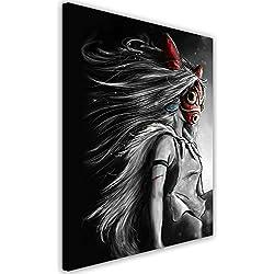 Feeby. Wandbild - 1 Teilig - 40x50 cm, Leinwand Bild Leinwandbilder Bilder Wandbilder Kunstdruck, Barrett Biggers - Anime Fantasy Szary