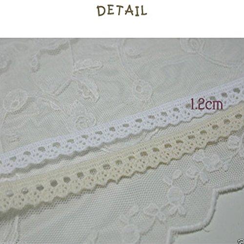 0,9m Torchon Knit Lace crochet Trim 1.2cm Yh Tinywheel Infradito colorati estivi, con finte perline