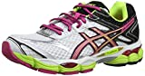 AISCS Gel-Cumulus 16, Chaussures de Running Femme - Blanc (White/Hot Pink/Black 120) - 37.5 EU (Taille Fabricant : 4.5 UK)